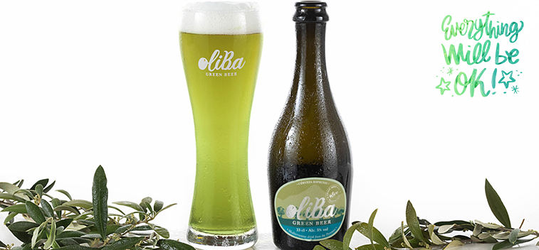 OLIBA Green Beer , the world's first olive green beer