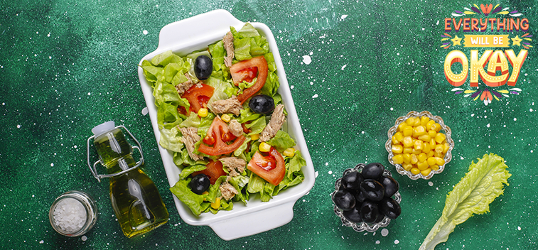 The Mediterranean Diet helps reduce the effects of stress